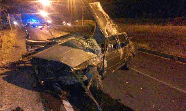 ¡Pareja murió tras la volcadura de un automóvil en Guadalupe, Zacatecas, al iniciar el año!