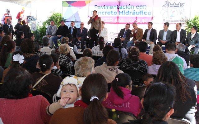 ¡Arranca la alcaldesa de Aguascalientes obras de pavimentación con concreto hidráulico en tercer anillo sur!