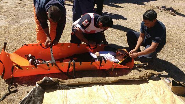 ¡Rescataron en helicóptero a adolescente lastimada en el Cerro del Picacho en Aguascalientes!