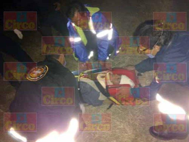 ¡Choque frontal entre una camioneta y un auto dejó 1 lesionado en Lagos de Moreno!