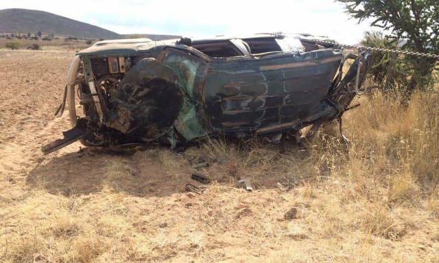 ¡Volcadura de camioneta dejó 1 muerto y 2 lesionados graves en Jerez, Zacatecas!