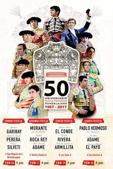 ¡Listos los carteles para celebrar el 50 Aniversario de la Plaza de Toros El Nuevo Progreso!