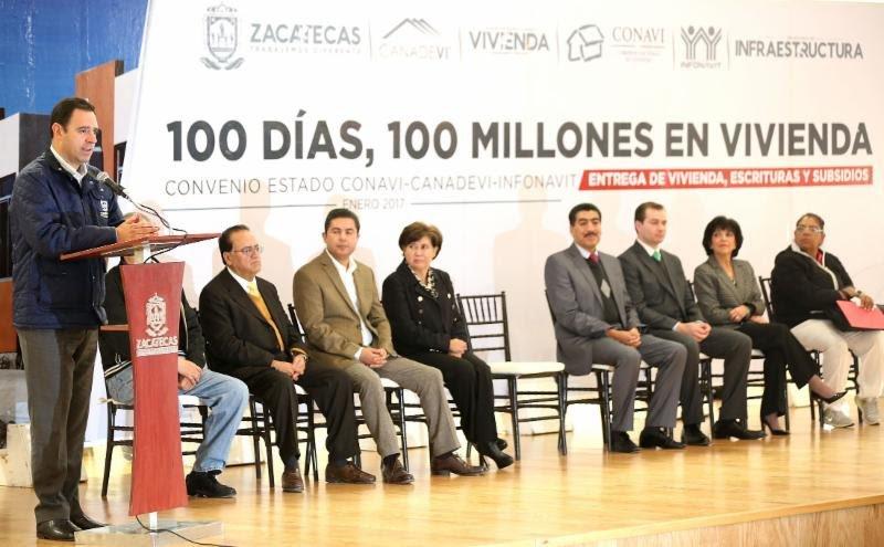 ¡Entrega gobernador Alejandro Tello 100mdp en apoyos para vivienda!