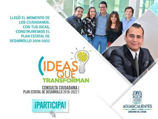 ¡Aporta tus ideas para construir el Plan Estatal de Desarrollo!