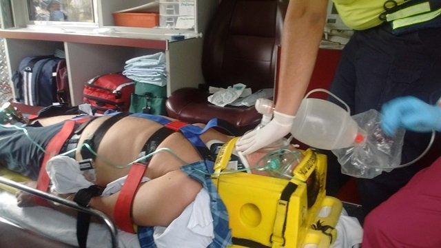 ¡Grave hombre atropellado por un repartidor-motociclista en Aguascalientes!