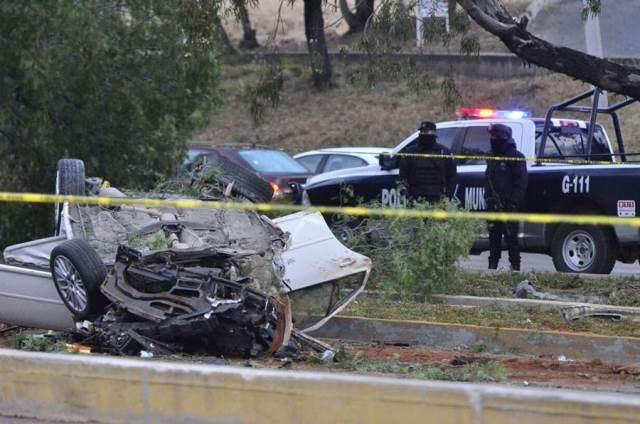 ¡3 muertos y 1 lesionada grave en fuerte accidente en Guadalupe, Zacatecas!