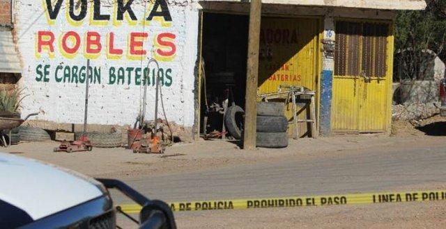 ¡Acribillaron a balazos a un hombre en una vulcanizadora en Guadalupe, Zacatecas!