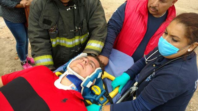 ¡Carambola entre 3 vehículos dejó 3 lesionados en Aguascalientes!