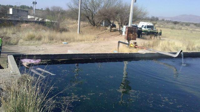 ¡Encontraron muerto a un hombre dentro de un estanque en Aguascalientes!