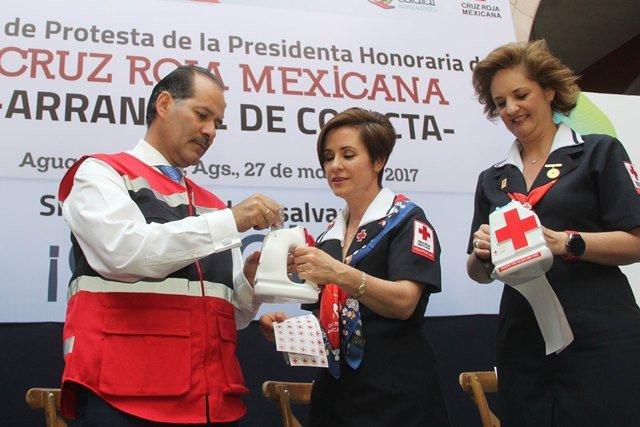 ¡Gobierno del Estado apoya con 2mdp a la Cruz Roja en su colecta anual!