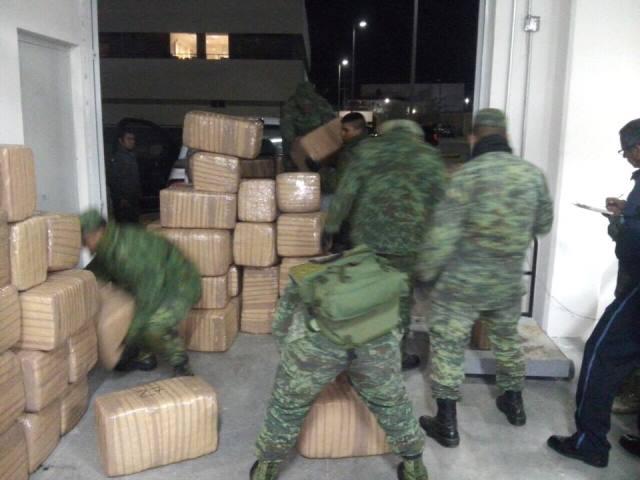 ¡Militares incautaron una tonelada y media de marihuana en Aguascalientes!