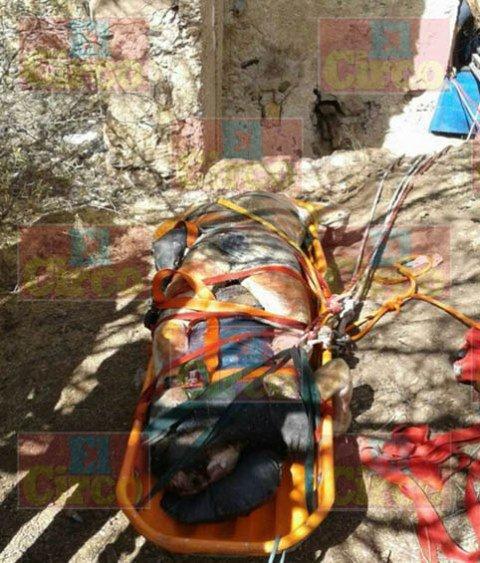 ¡Putrefactos hallaron 2 cuerpos en un tiro de mina en Fresnillo!