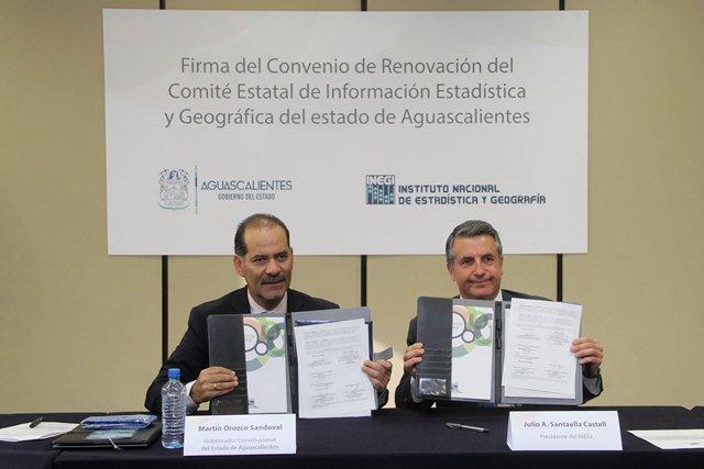 ¡Gobierno del Estado e INEGI firman convenio para contar con información que permita fortalecer políticas públicas!