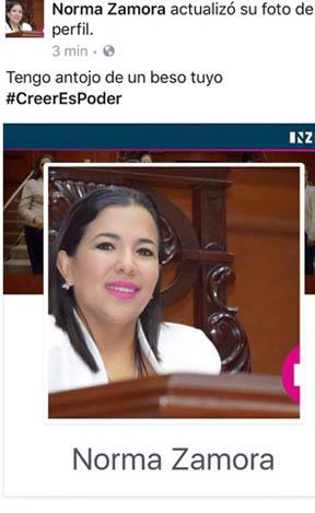 ¡Diputada de Aguascalientes pide besos en Facebook #ansiosa!