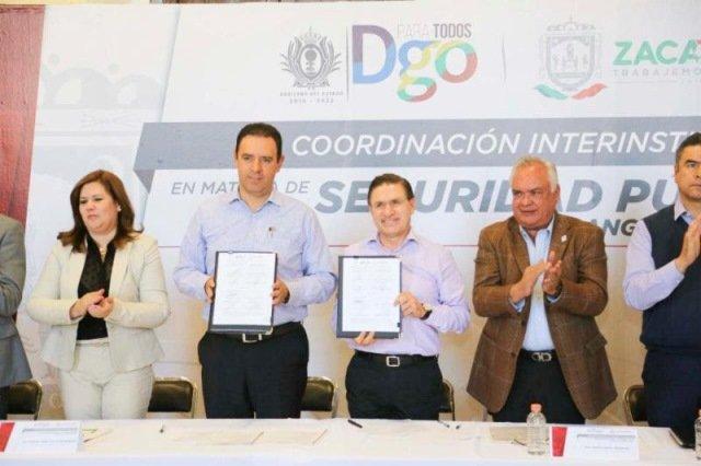 ¡Gobernadores de Zacatecas y Durango firman convenio de colaboración para garantizar la seguridad en zona norte del estado!