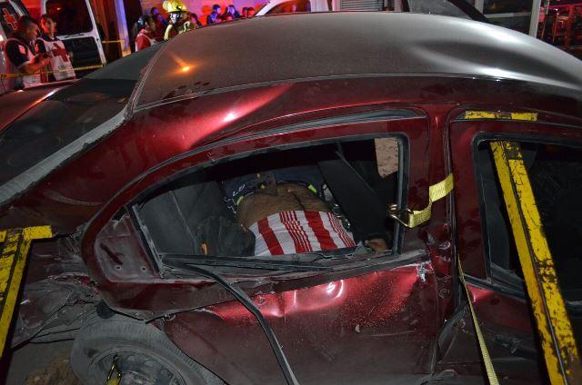 ¡Choque entre automóvil y el tren dejó 1 muerto y 2 lesionados en Aguascalientes!