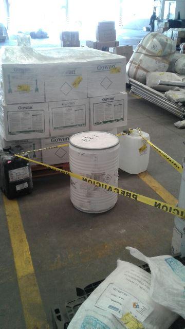 ¡Policías federales aseguraron 50 kilos de cianuro de sodio en el aeropuerto internacional de Aguascalientes!