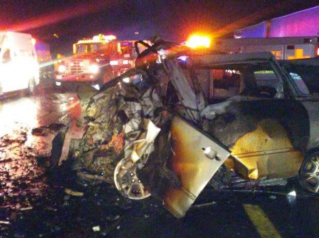 ¡10 muertos en espantoso accidente en Encarnación de Díaz, Jalisco!