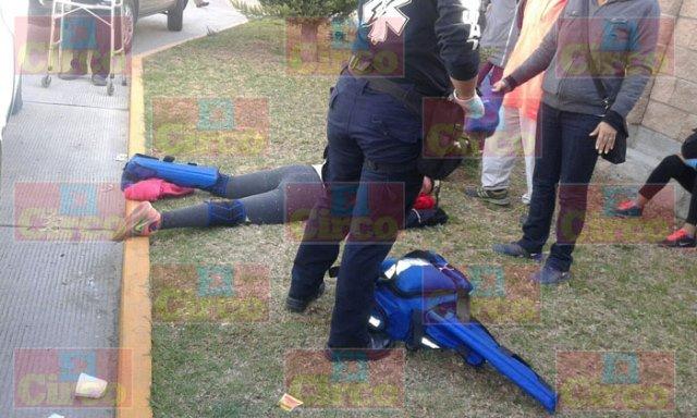 ¡Mujer lesionada atropellada por una camioneta en Lagos de Moreno!