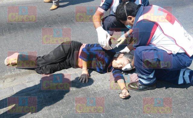 ¡Grave mujer atropellada por una camioneta en Lagos de Moreno!