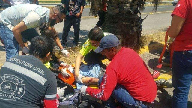 ¡Grave ciclista arrollado por una camioneta en Pabellón de Arteaga, Aguascalientes!