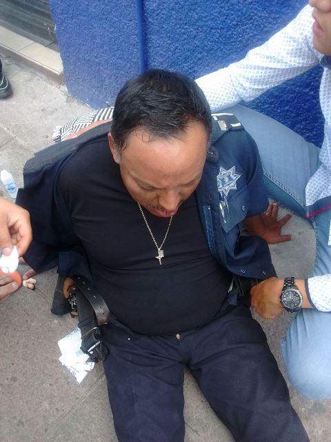 ¡Policía vial fue lesionado a golpes por 4 sujetos en Aguascalientes!