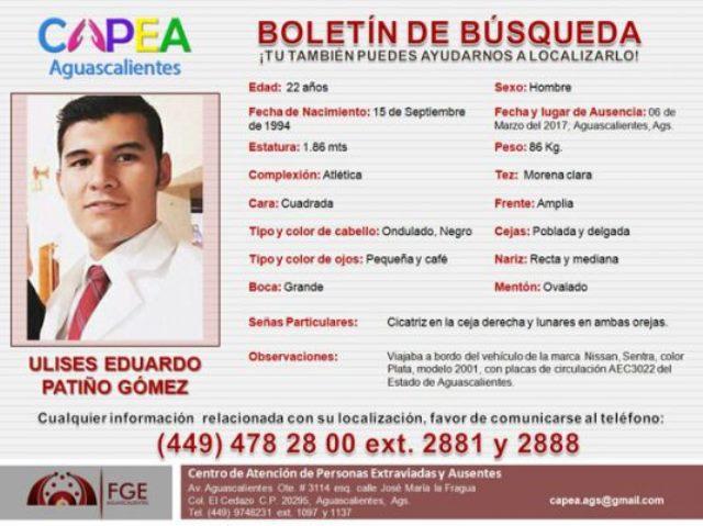 ¡Ya localizaron al estudiante desaparecido en Aguascalientes; lo hallaron en León!