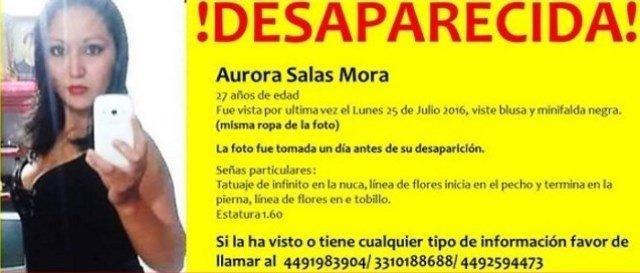 ¡Mujer desaparecida fue asesinada de un balazo y enterrada debajo de un puente en Aguascalientes!