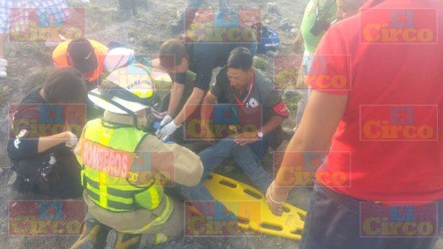 ¡Trailero lesionado grave tras ser embestido por el tren en Lagos de Moreno!