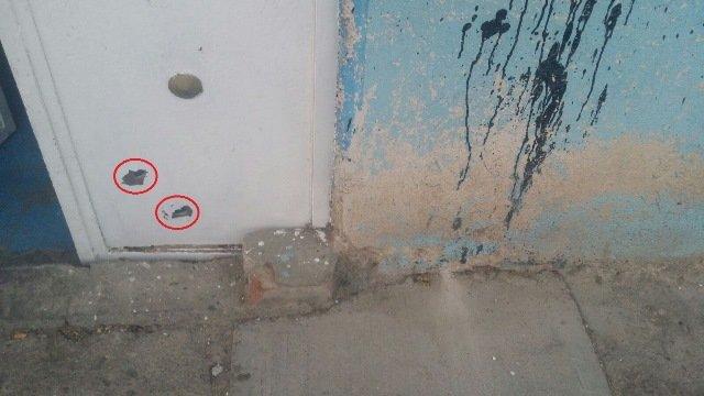 ¡Pistoleros balearon una casa en la Zona Centro de Aguascalientes y escaparon!