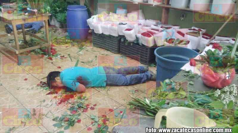 ¡Zacatecas sin ley…! Ejecutan a dos empleados de una florería en Calera