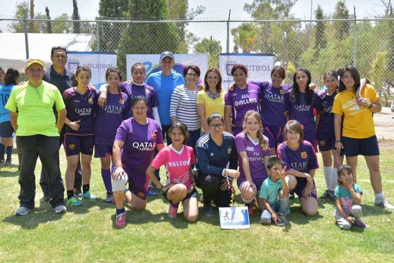 ¡Destacan mujeres de Jesús María en cuadrangular de fútbol!