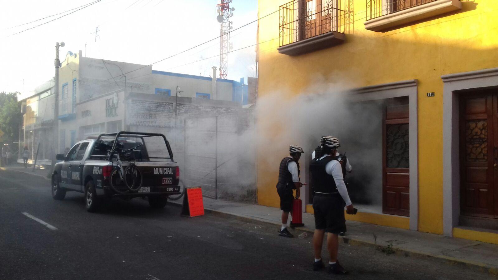 ¡Flamazo en un negocio de churros en Aguascalientes dejó una joven quemada!