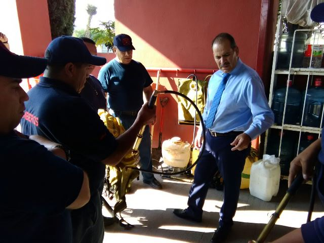 ¡MOS reconoce labor de Bomberos Estatales en incendios forestales y otras contingencias!