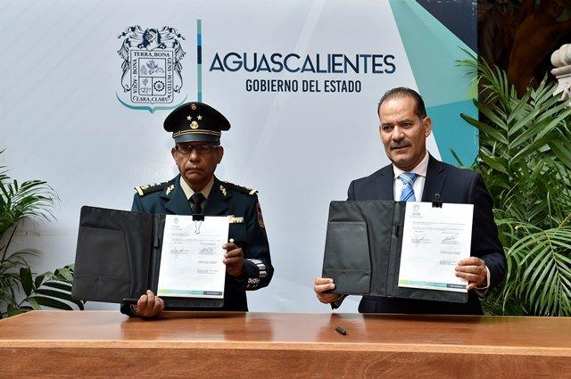 ¡Gobierno del Estado y XIV Zona Militar firman convenio para arranque de canje de armas!