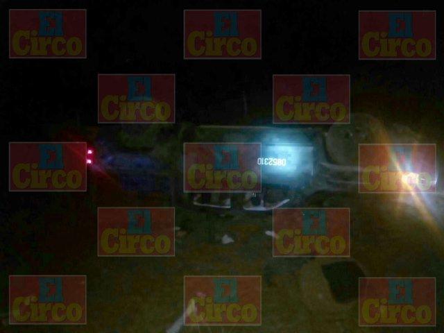 ¡Se volcó camioneta de la SEDENA en Calera, Zacatecas: 1 militar lesionado!