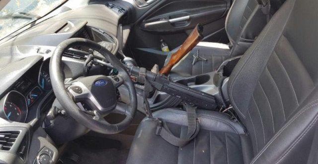 ¡Policías estatales detuvieron a un sujeto en posesión de armas largas y camioneta con reporte de robo en Ojocaliente!