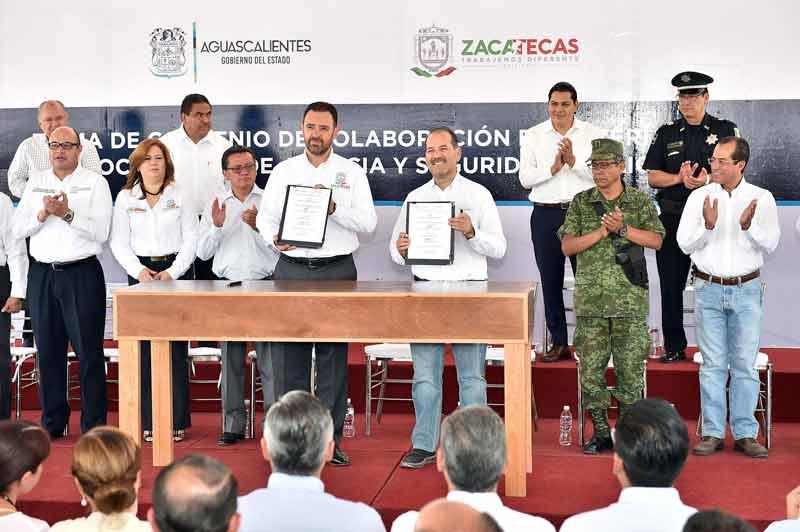 ¡Aguascalientes y Zacatecas firman convenio de colaboración para blindar sus fronteras!