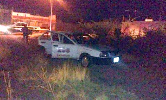 ¡Taxista fue ejecutado a balazos en Guadalupe, Zacatecas!