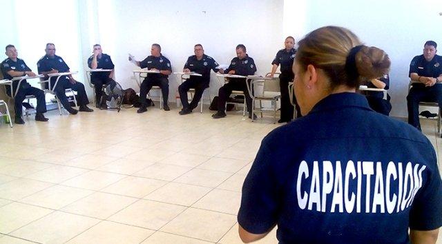 ¡Se capacita a la corporación de Seguridad Pública Municipal en materia de Protección Civil!