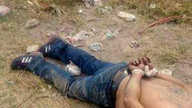 ¡Torturado hallaron a un hombre ejecutado en la carretera a Vetagrande, Zacatecas!