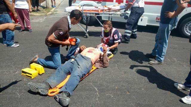 ¡Grave hombre atropellado por un motociclista en Aguascalientes!