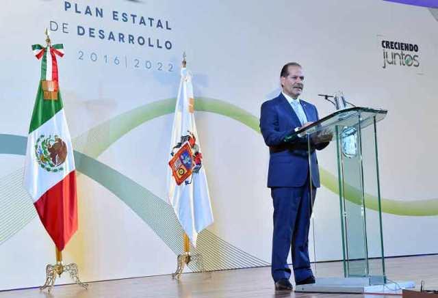 ¡Plan Estatal de Desarrollo 2016-2022 guía para construir un Aguascalientes más próspero, justo, seguro e incluyente!