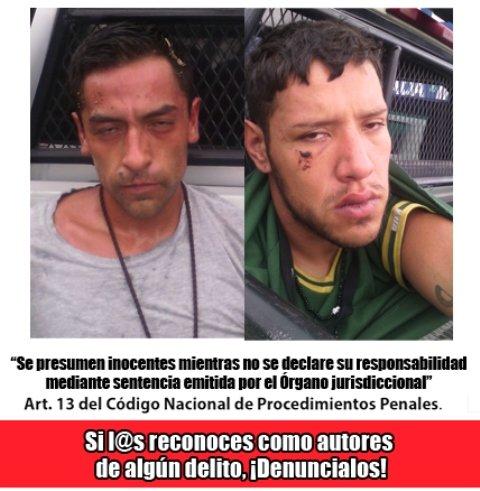 ¡Tras persecución atraparon a 2 robacoches armados en Aguascalientes!