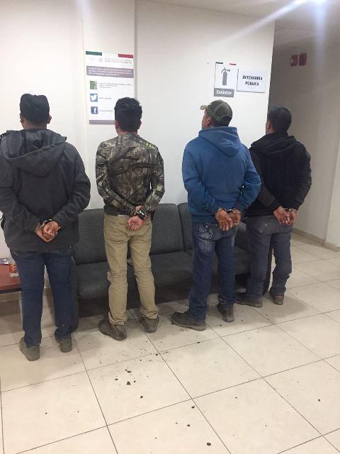 ¡Arrestaron a 4 sujetos que hacían disparos con una escopeta en Aguascalientes!