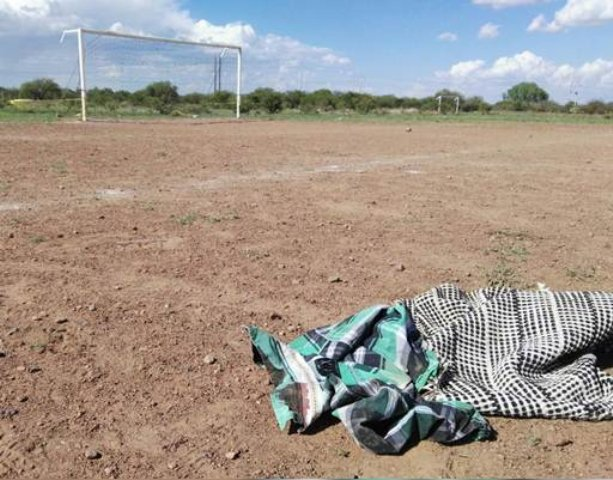 ¡En una cancha de futbol ejecutaron a balazos a un joven en Trancoso, Zacatecas!