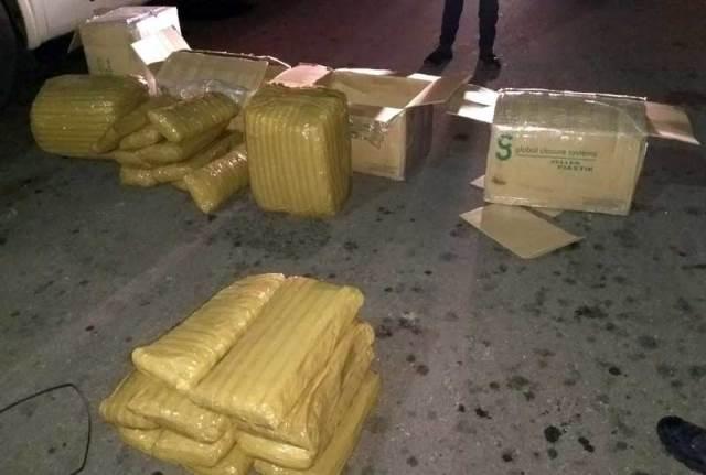 ¡El Ejército y la Policía Estatal aseguran 120 kilos de cannabis en la puerta sur en Aguascalientes!