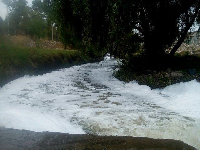 ¡Río de espuma en Aguascalientes: PVEM!