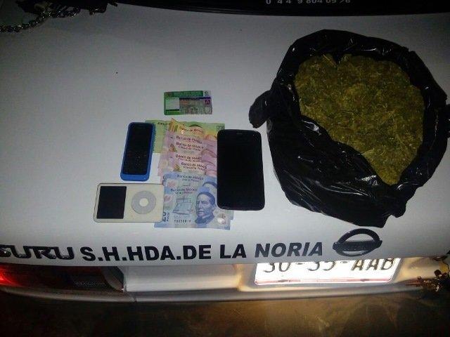 ¡Detuvieron a un taxista con casi medio kilo de marihuana en Aguascalientes!