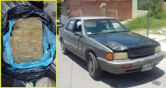 """¡Policías municipales """"pescaron"""" a """"El Camarón"""" con 2.5 kilos de marihuana y un auto robado!"""